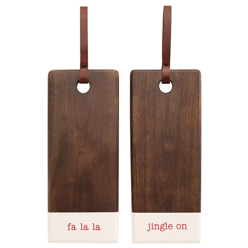 Holiday Wood & Enamel Serving Board
