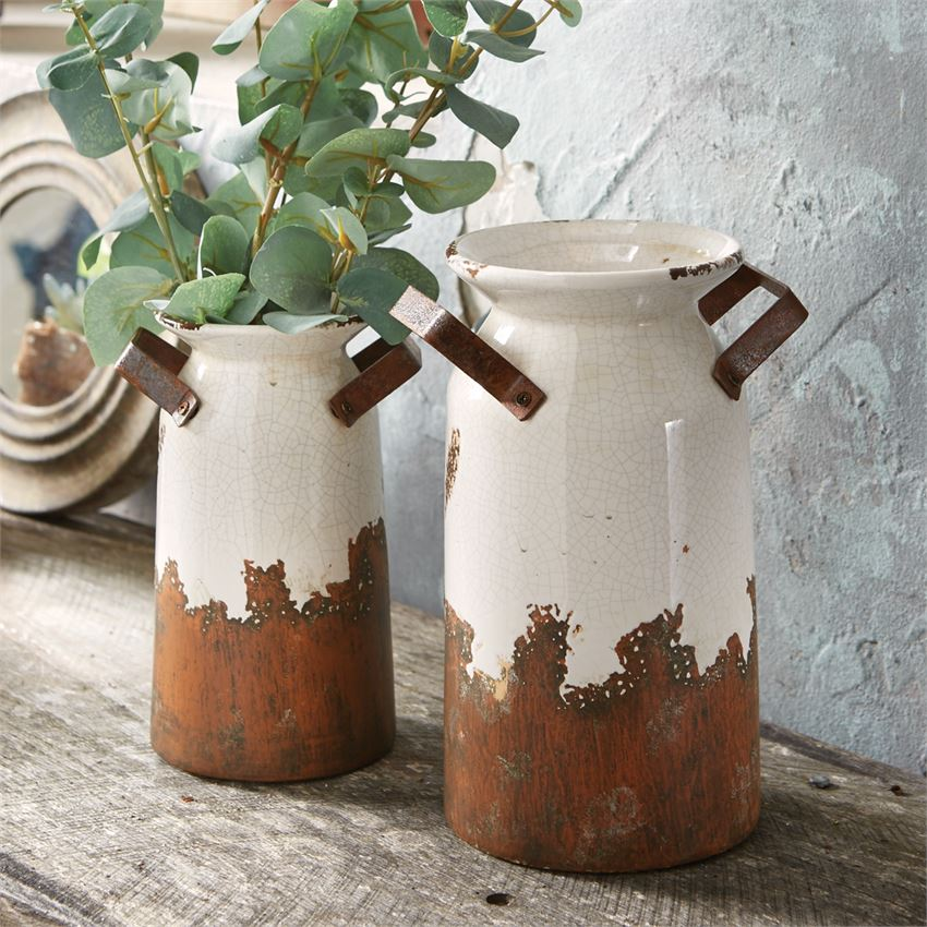 Crackle Terracotta Urns