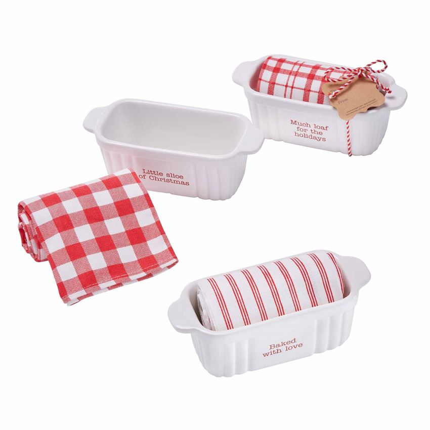 Holiday Mini Baker & Towel Set