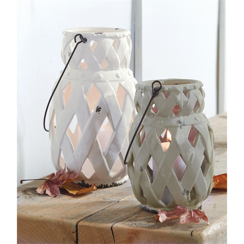 Stoneware Lattice Lanterns