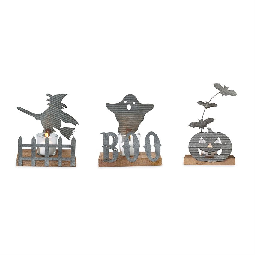 Halloween Tin Votive Sets