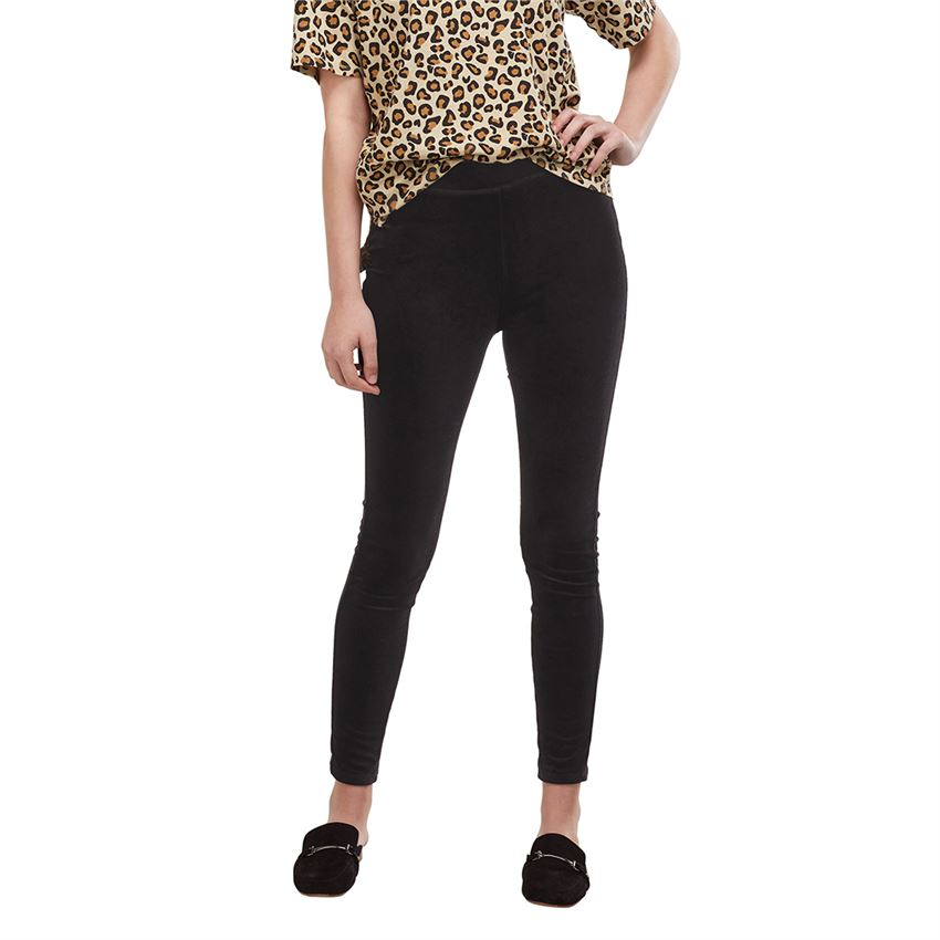 Melrose Velvet Legging - Black