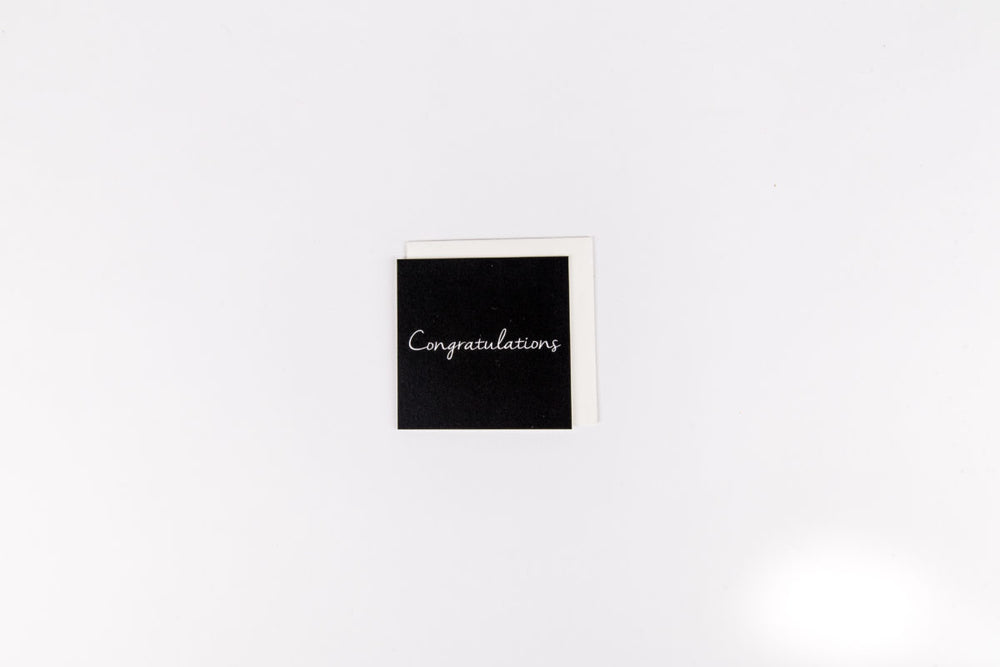 Congratulations Black Mini Card
