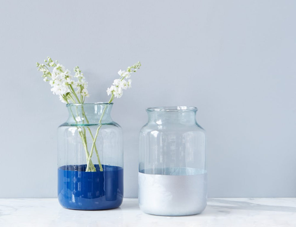 Silver Frost Colorblock Mason Jar - Gatherings Market