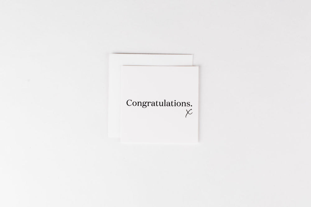Congratulations White Mini Card