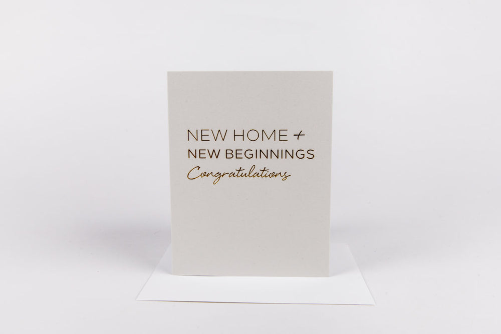 New Home New Beginnings Card