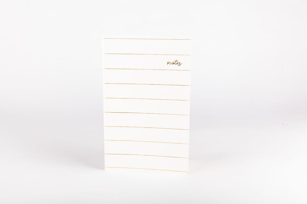 Gold Striped Notebook