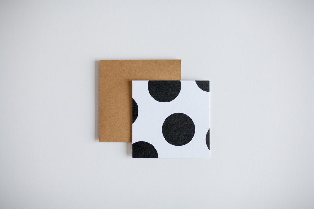 Polka Dot Mini Note Card