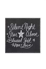Silent Night Wall Plaque