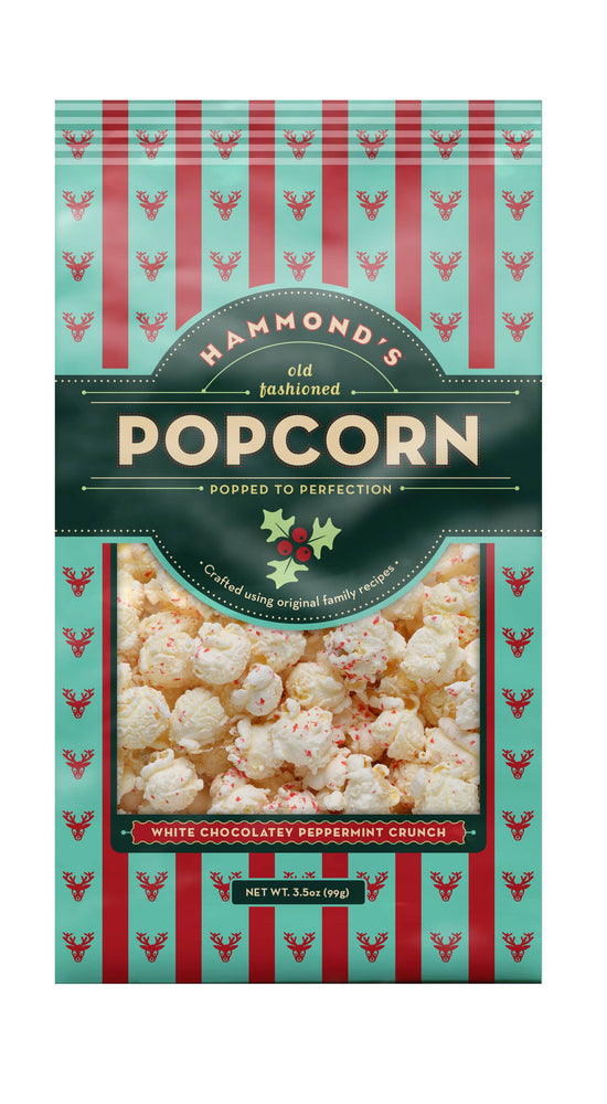Popcorn Christmas White Chocolate Peppermint 3.5oz
