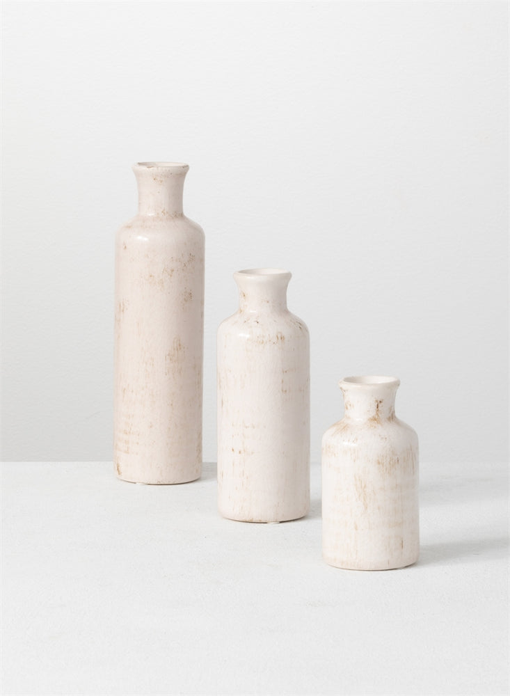 Bottle Vase - Cream