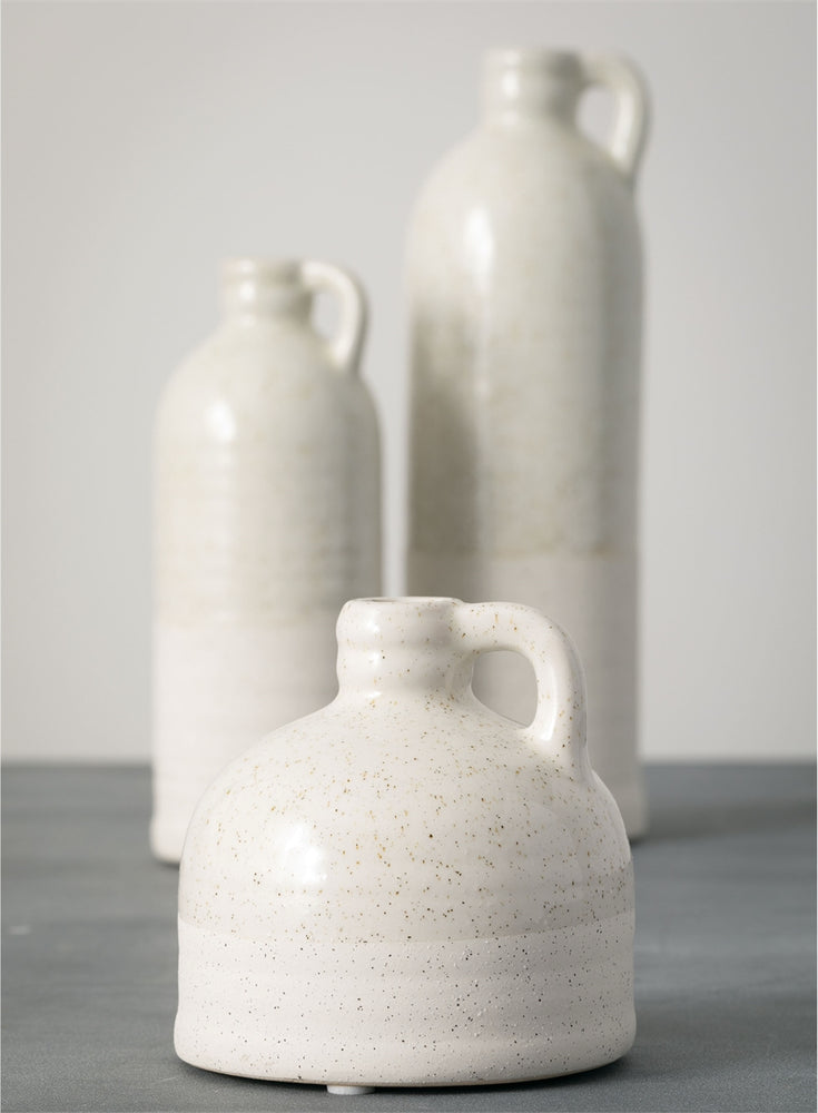 Bottle Vase - Mottled Cream