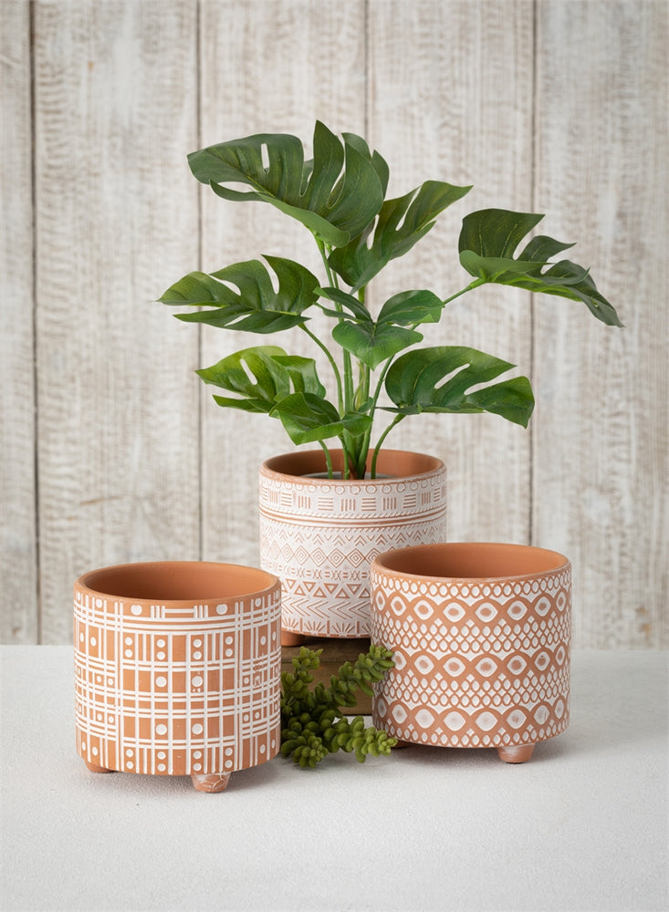 Patterned Terracotta Pot