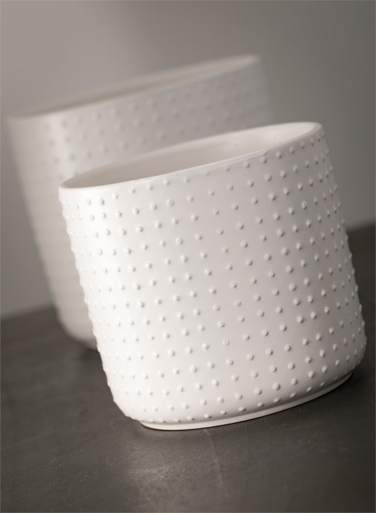 Textured Pot - White