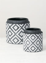 Textured Pot - Black