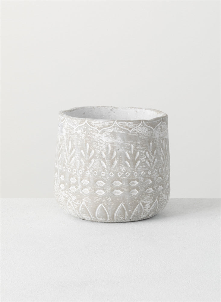 Cement Textured Pot