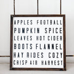 Fall Words Wood Sign - Gatherings Market