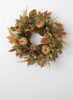 Foliage & Pumpkin Wreath