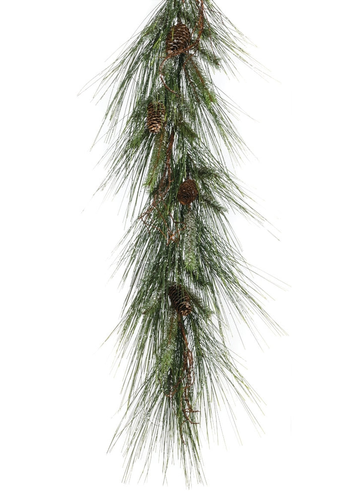 Iced Long Needle Pine Garland