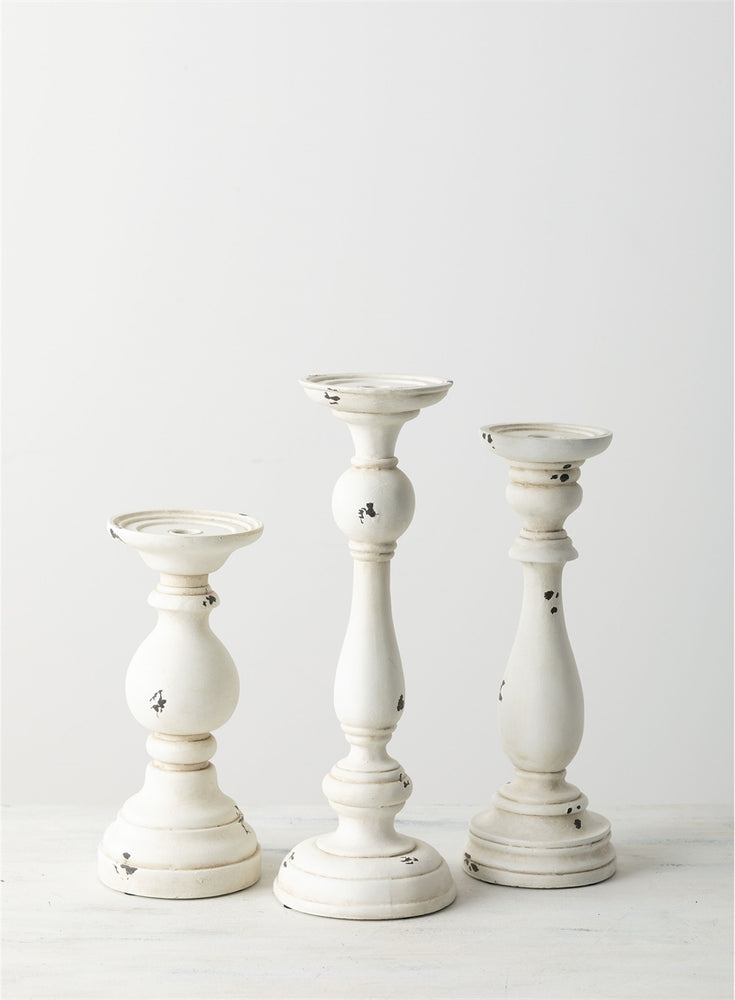 Pillar Candleholder - White - Gatherings Market