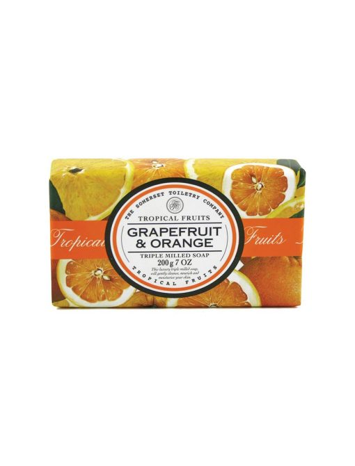 Tropical Fruits Triple Milled Soap - Grapefruit & Orange