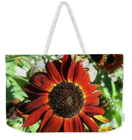 Hearts on Fire Sunflower Weekender Tote bag