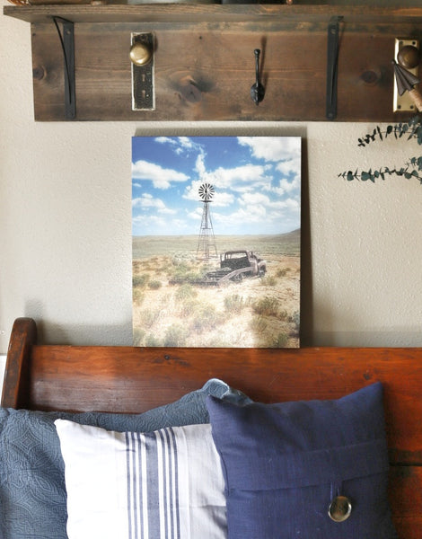 Windmill Over Lenzen Canvas Print