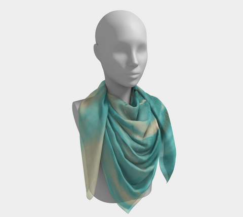 Turquoise Run in Spirit Western Scarf