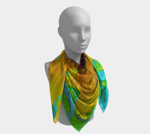 The Sunflower and the Bee Western Scarf