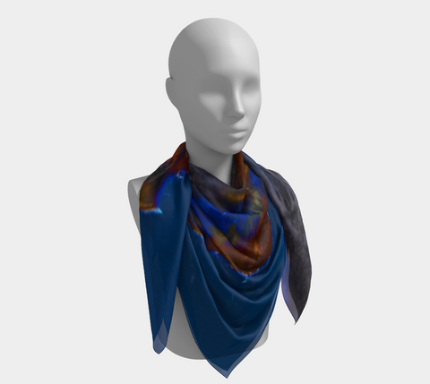 Blue Stallion Western Scarf