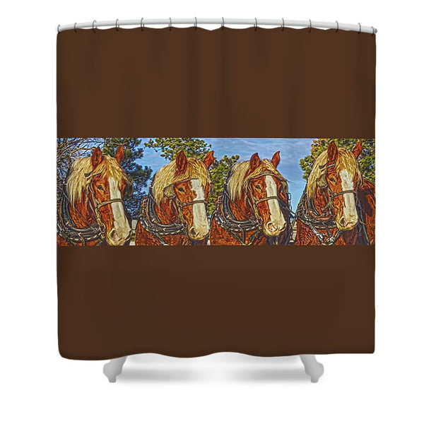 After Work Shower Curtain