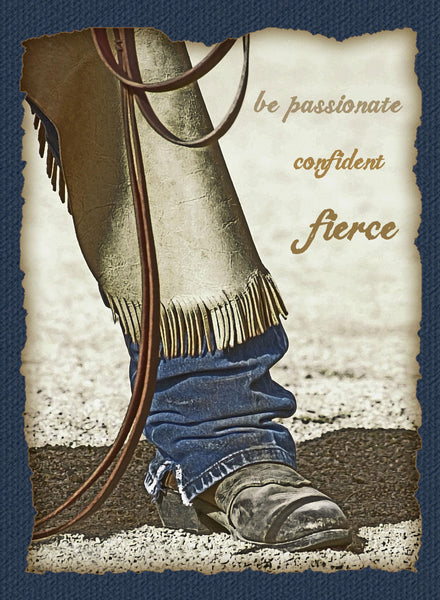 Fierce Western Art Cowboy Greeting Card