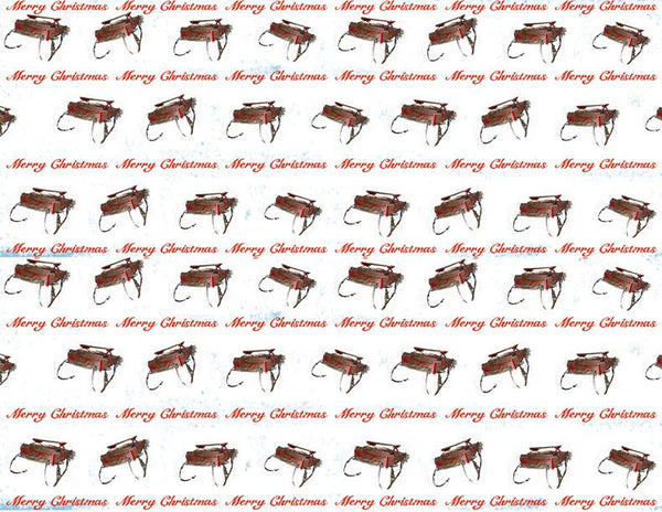 Wrapping Paper Sleigh