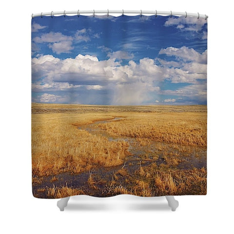 Amber Waves of Gold Shower Curtain