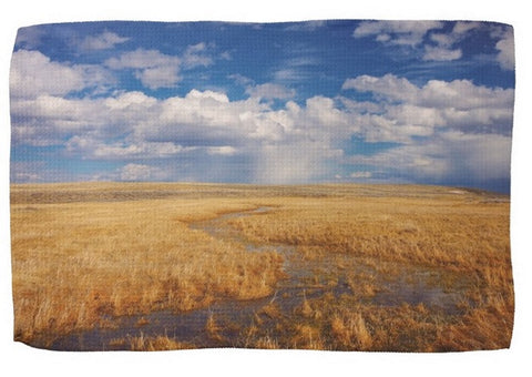 Amber Waves of Gold Kitchen Towel
