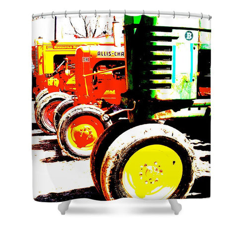 Antique Tractors Shower Curtain