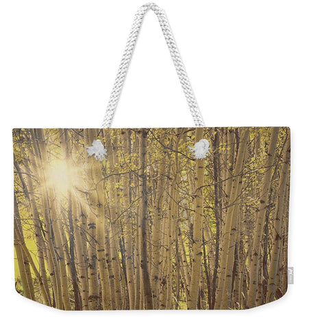 Aspens in Summer Weekender Tote bag