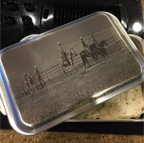 At the End of the Day Cake Pan with Lid