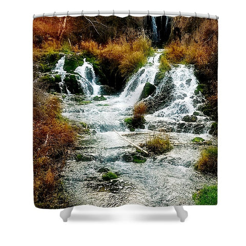 Autumn at Roughlock Falls Shower Curtain