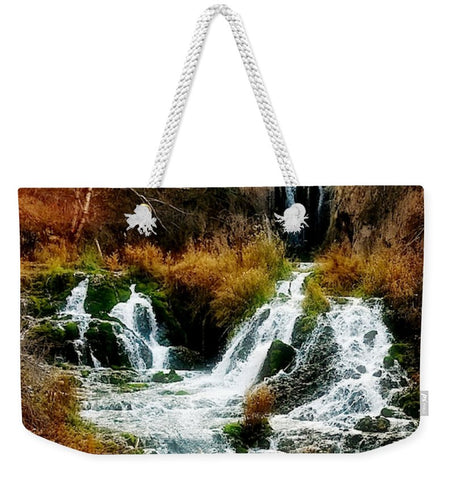 Autumn at Roughlock Falls Weekender Tote bag