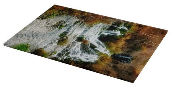 Autumn at Roughlock Falls Cutting Board