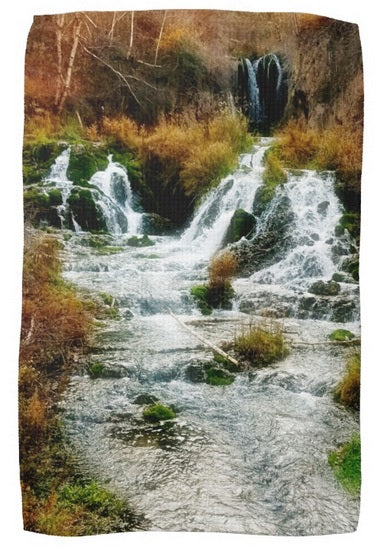 Autumn at Roughlock Falls Kitchen Towel