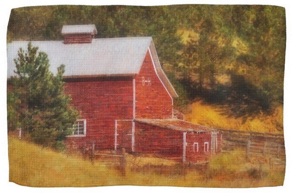 Autumn's Black Hills Barn Kitchen Towel