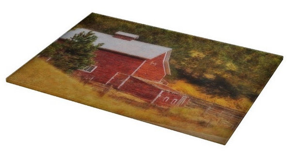 Autumn's Black Hills Barn Cutting Board