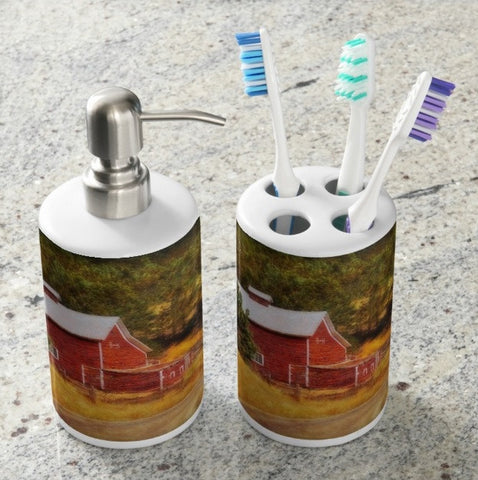 Autumn's Black Hills Barn Bathroom Set