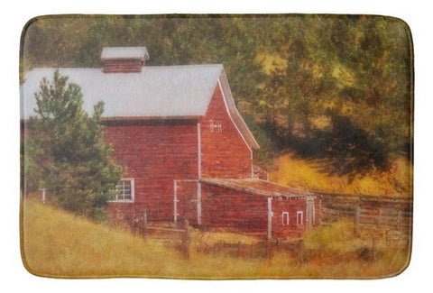 Autumn's Black Hills Barn Bath Mat