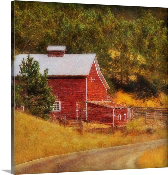 Autumn's Black Hills Barn Canvas Print