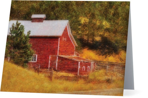 Autumn's Black Hills Barn Note Cards and Greeting Cards (12 Pack)