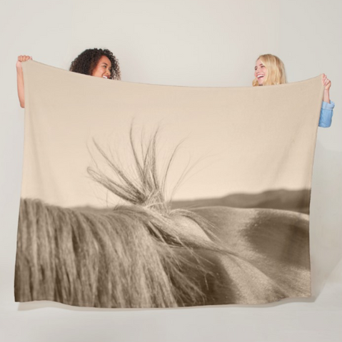 Bareback Hold Fleece Blanket