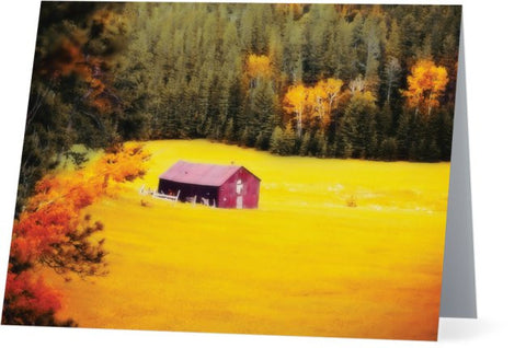Fall on a South Dakota Meadow Note Cards and Greeting Cards (25 Pack)